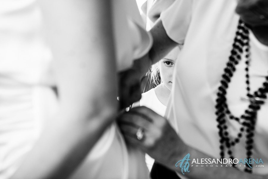 Bride is gettingready